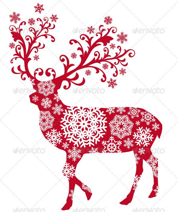Christmas deer - Christmas Seasons/Holidays