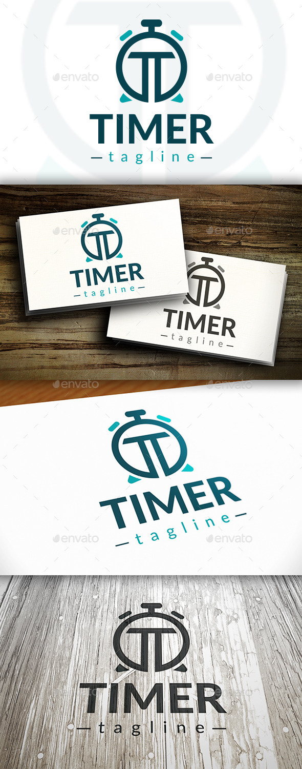 Time T Letter Logo - Letters Logo Templates