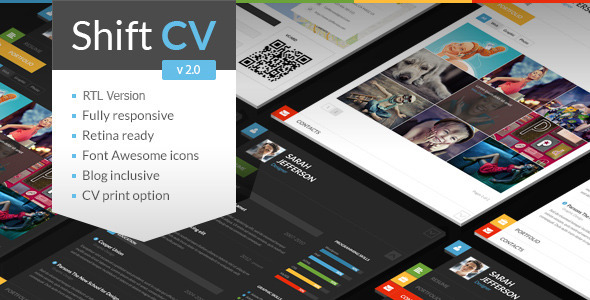 ShiftCV – Blog / Resume / Portfolio / WordPress