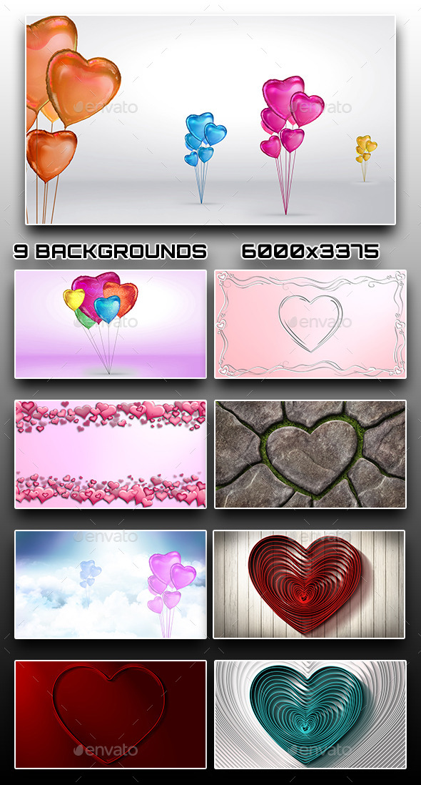 9 Valentine's Day Backgrounds - Backgrounds Graphics