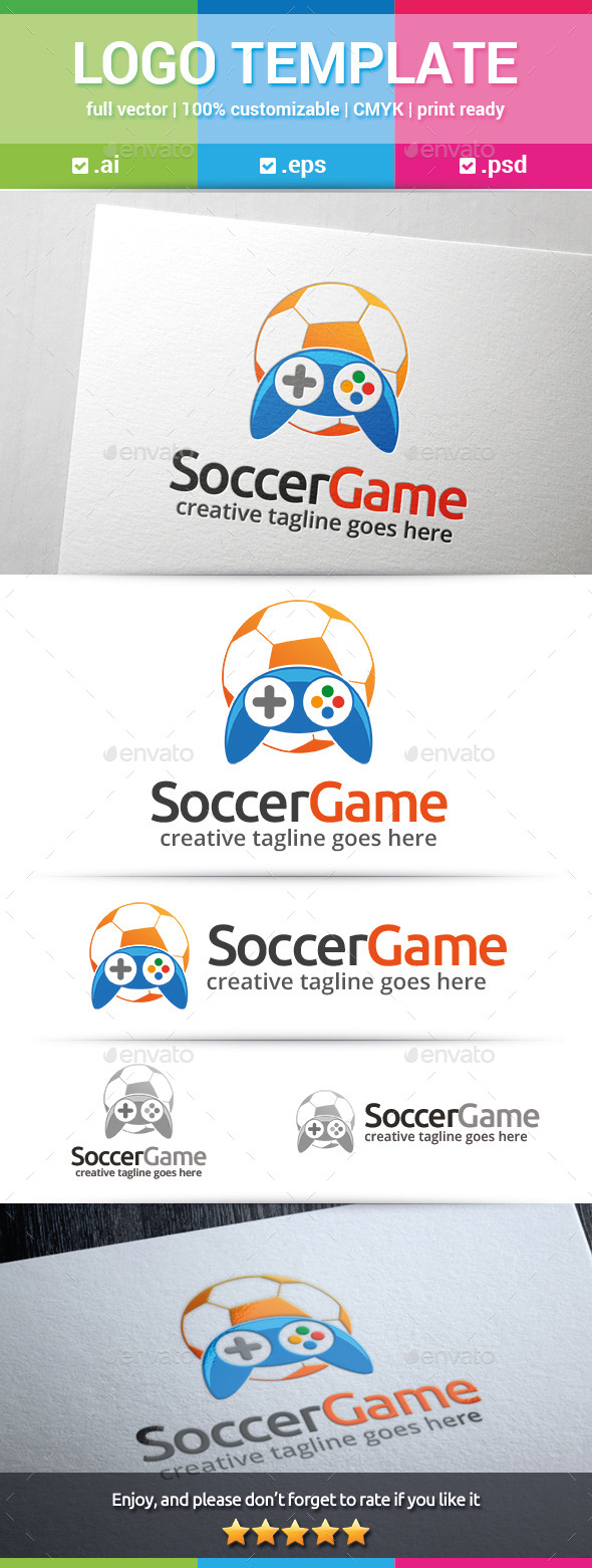 Soccer Game Logo - Objects Logo Templates