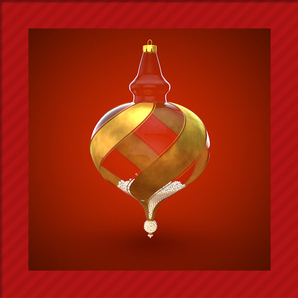 HiRes Christmas Decoration 11 - 3DOcean Item for Sale