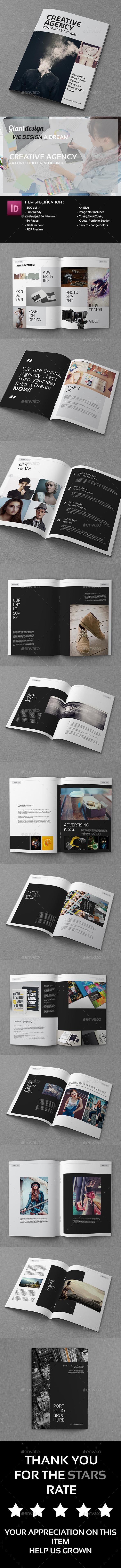 Creative Agency - A4 Portfolio Catalog Brochure - Portfolio Brochures