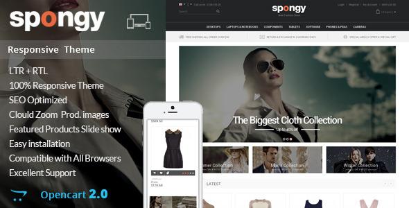 Spongy – Opencart Responsive Theme