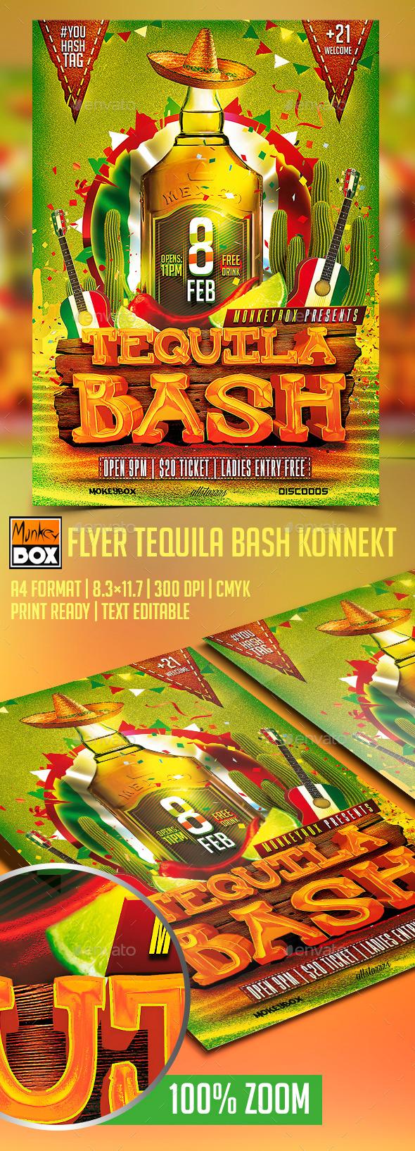 Flyer Tequila Bash Konnekt - Flyers Print Templates