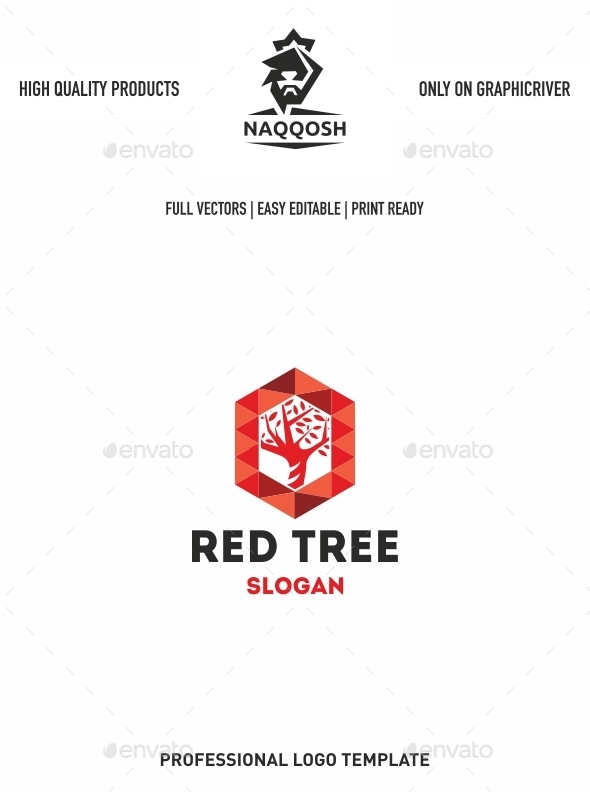 Red Tree - Vector Abstract