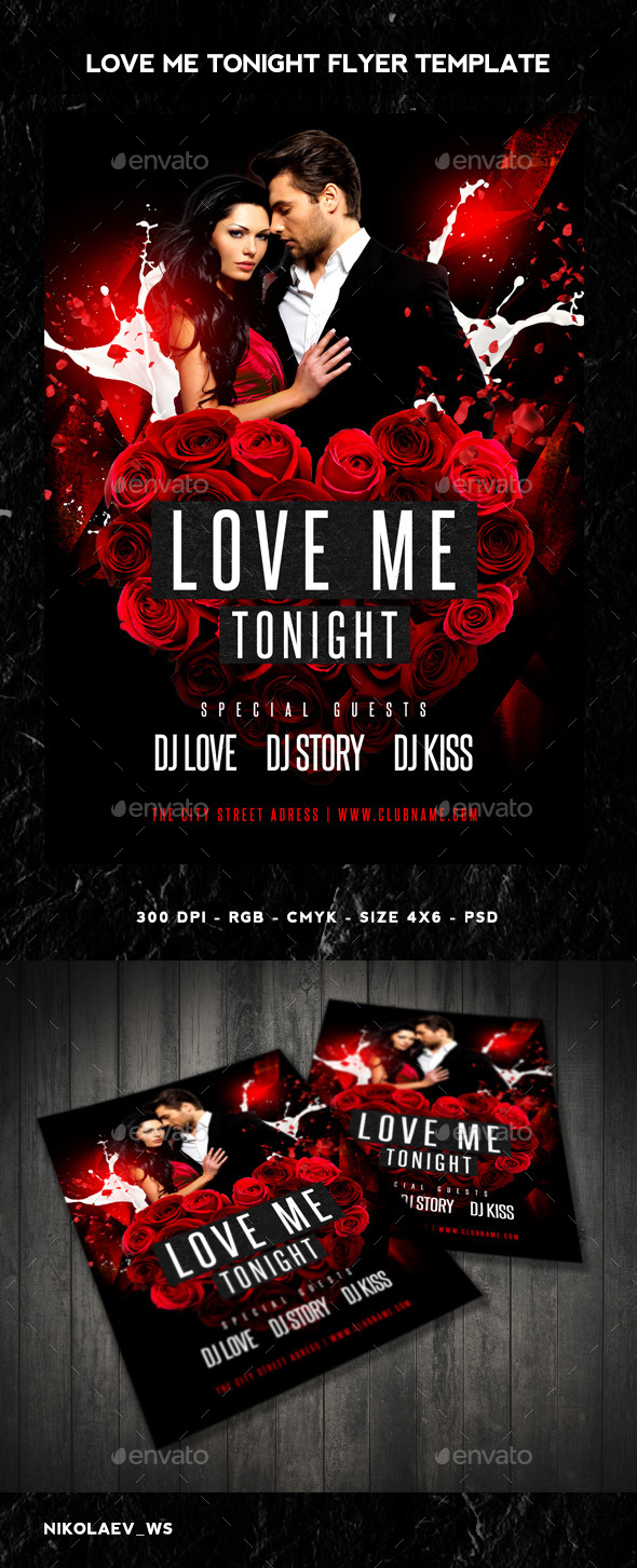Love Me Tonight Flyer - Clubs & Parties Events