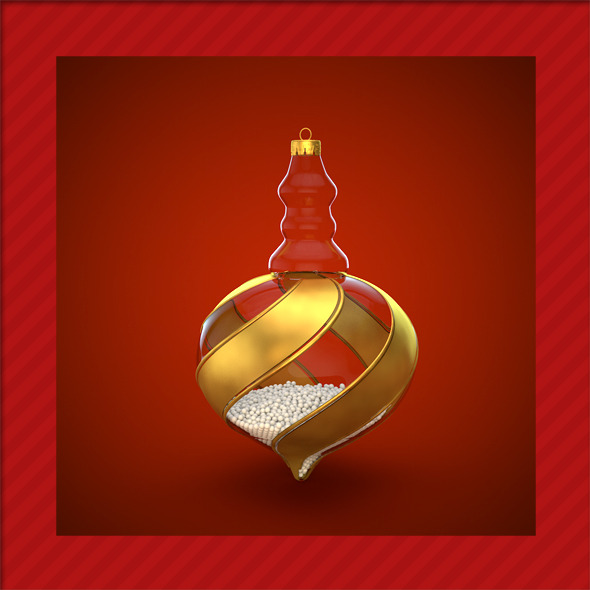 HiRes Christmas Decoration 12 - 3DOcean Item for Sale