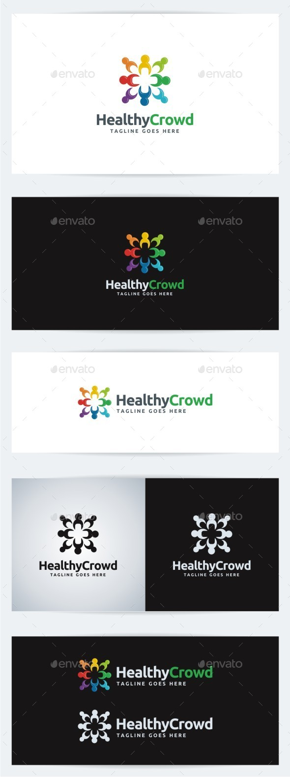 Healthy Crowd - Humans Logo Templates