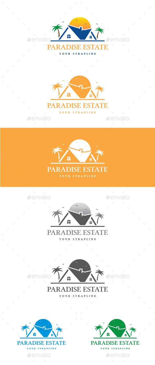 Paradise Estate Logo - Buildings Logo Templates