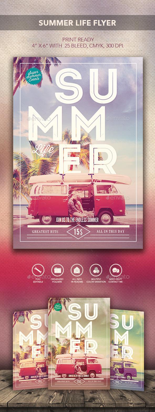 Summer Life Flyer - Flyers Print Templates