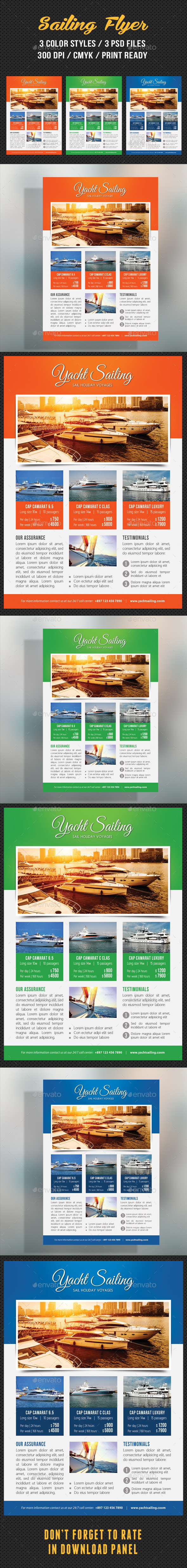 Sailing Yacht Travel Flyer 03 - Corporate Flyers