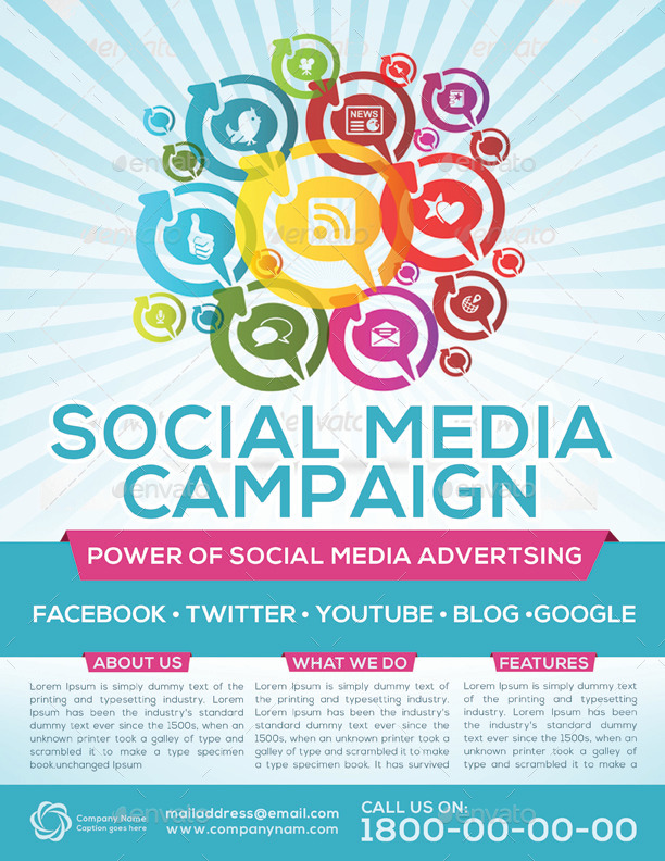 Social Media Campaign Flyer Template By Graphicshint | Graphicriver