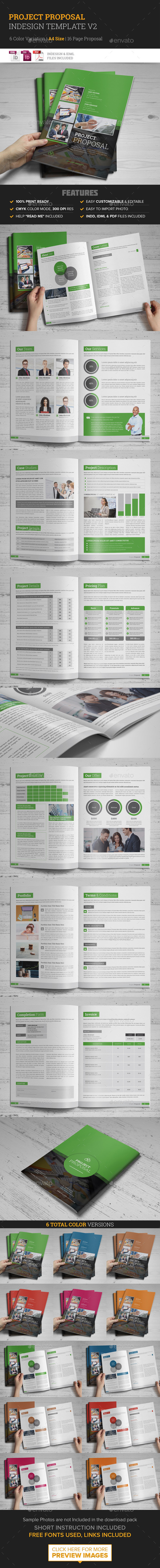 Project Proposal InDesign Template v2 - Proposals & Invoices Stationery