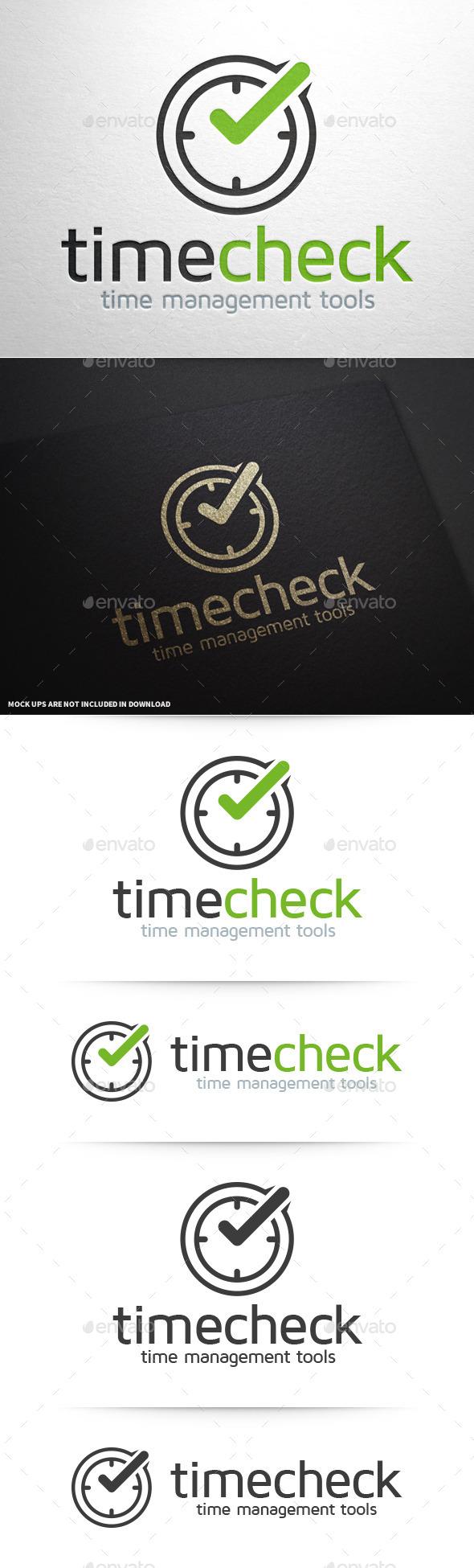 Time Check Logo Template - Symbols Logo Templates