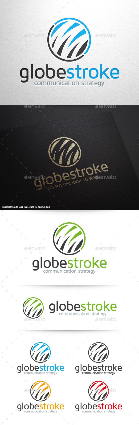 Globe Stroke Logo Template - Abstract Logo Templates