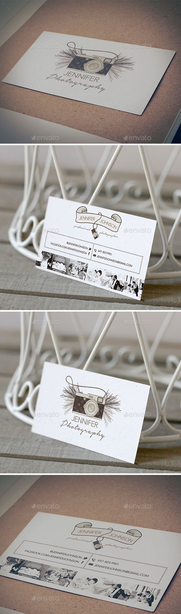 Photographer Business Card - Retro/Vintage Business Cards