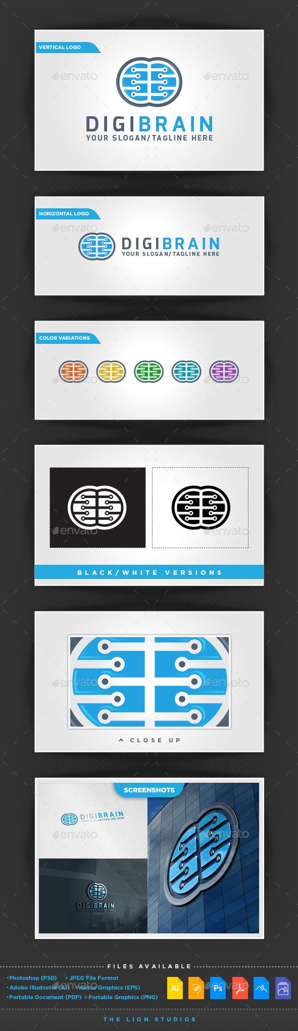DigiBrain Logo - Symbols Logo Templates