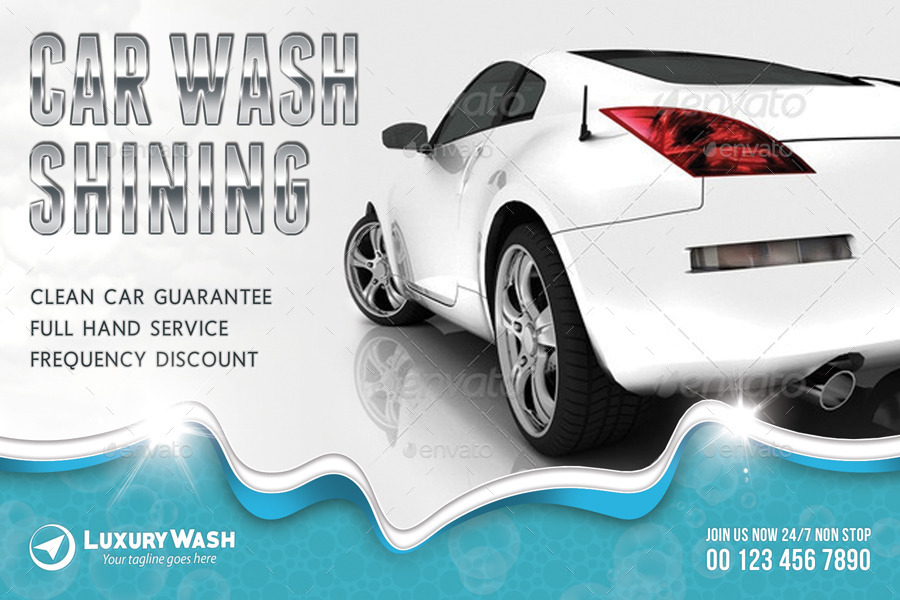 Car Wash Postcard Template by rapidgraf | GraphicRiver