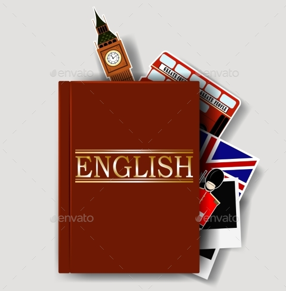 Red English Dictionary - Decorative Symbols Decorative
