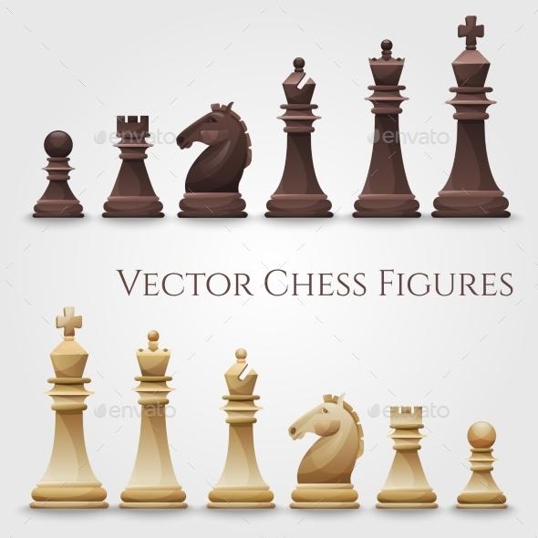 Vector Chess Figures - Sports/Activity Conceptual