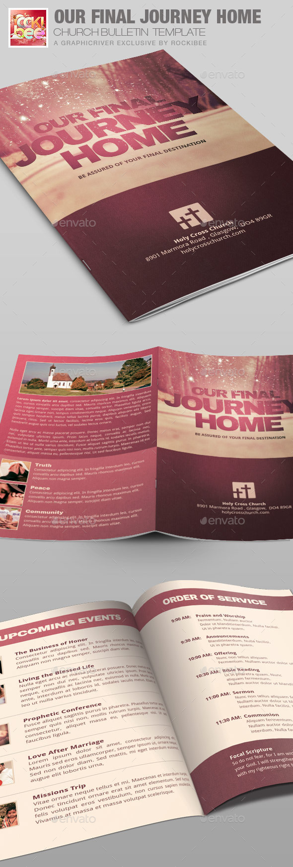 Our Final Journey Church Bulletin Template - Informational Brochures