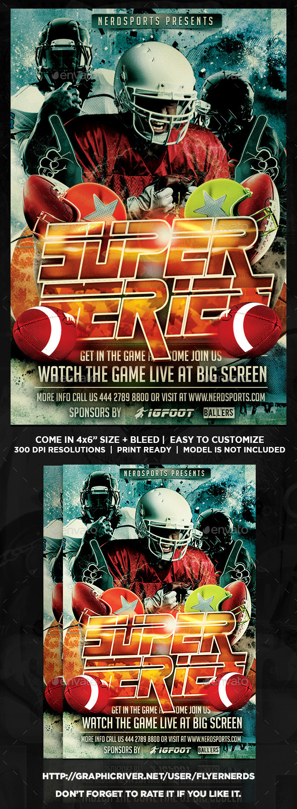 Football Super Series Sports Flyer - Sports Events