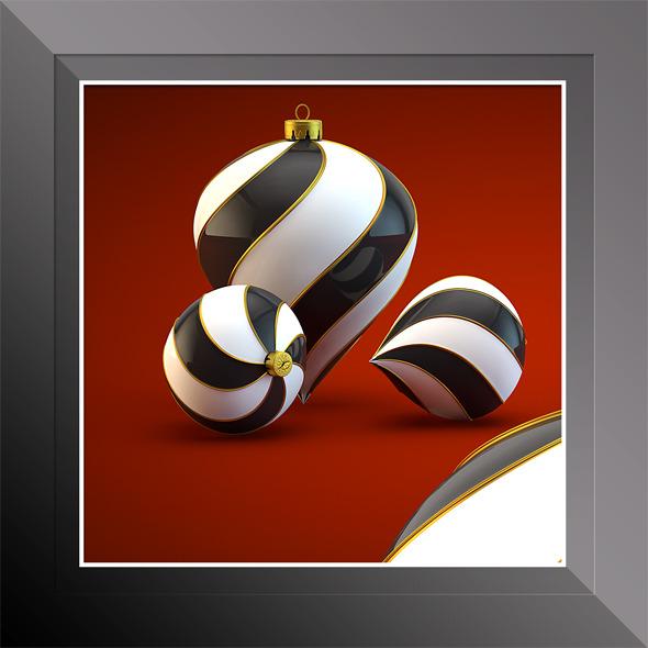 HiRes Christmas Decoration 17 - 3DOcean Item for Sale
