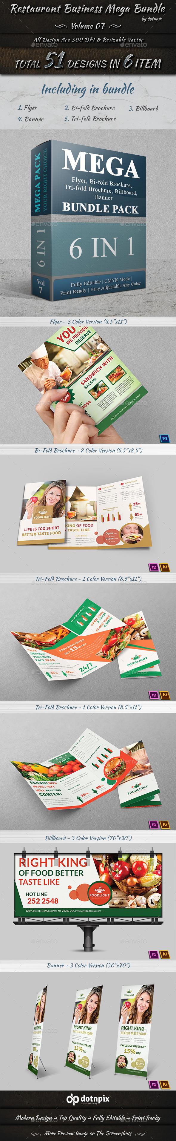 Restaurant Business Mega Bundle | Volume 7 - Restaurant Flyers