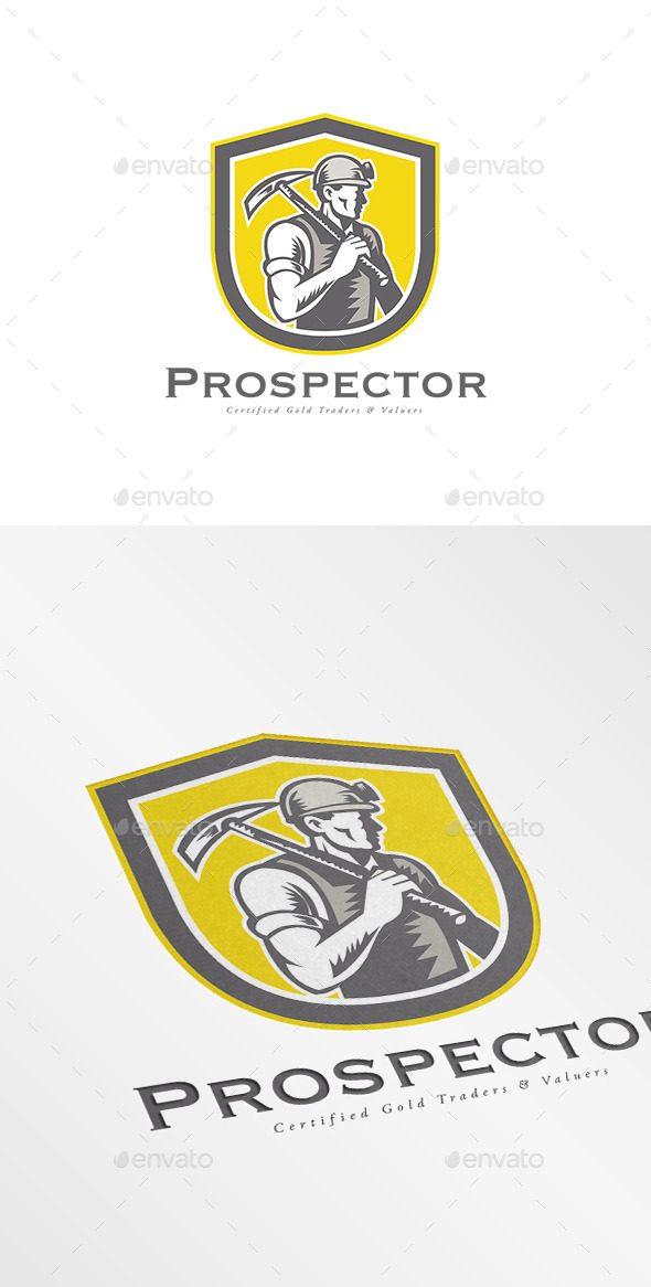 Prospector Gold Traders Logo - Humans Logo Templates