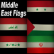 5 Hi Rez Flag Loops from the Middle East  - VideoHive Item for Sale