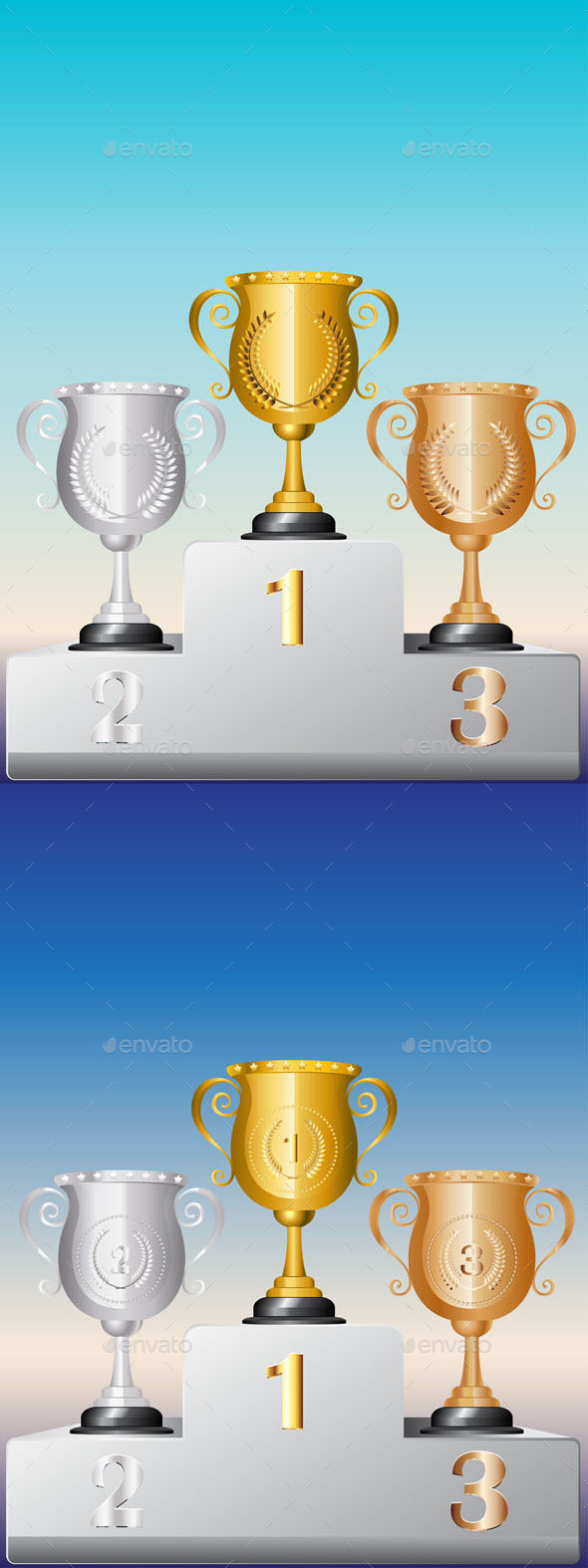 Trophy Cup on Podium - Sports/Activity Conceptual