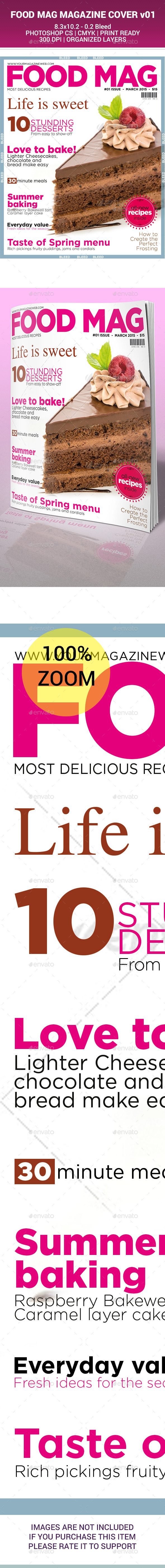 FOOD MAG - MAGAZINE COVER DESIGN v01 - Magazines Print Templates