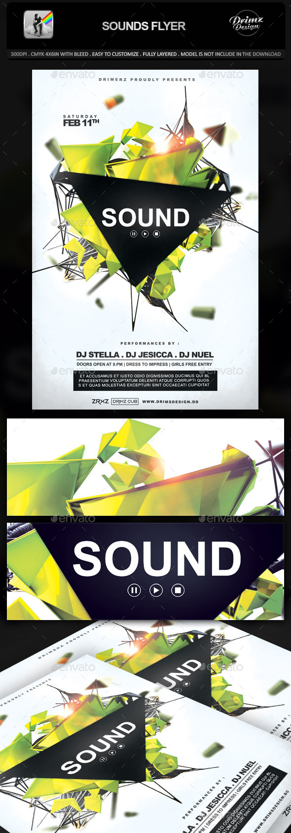 Sounds Flyer - Events Flyers