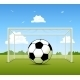 Soccer Ball on a Green Field - GraphicRiver Item for Sale