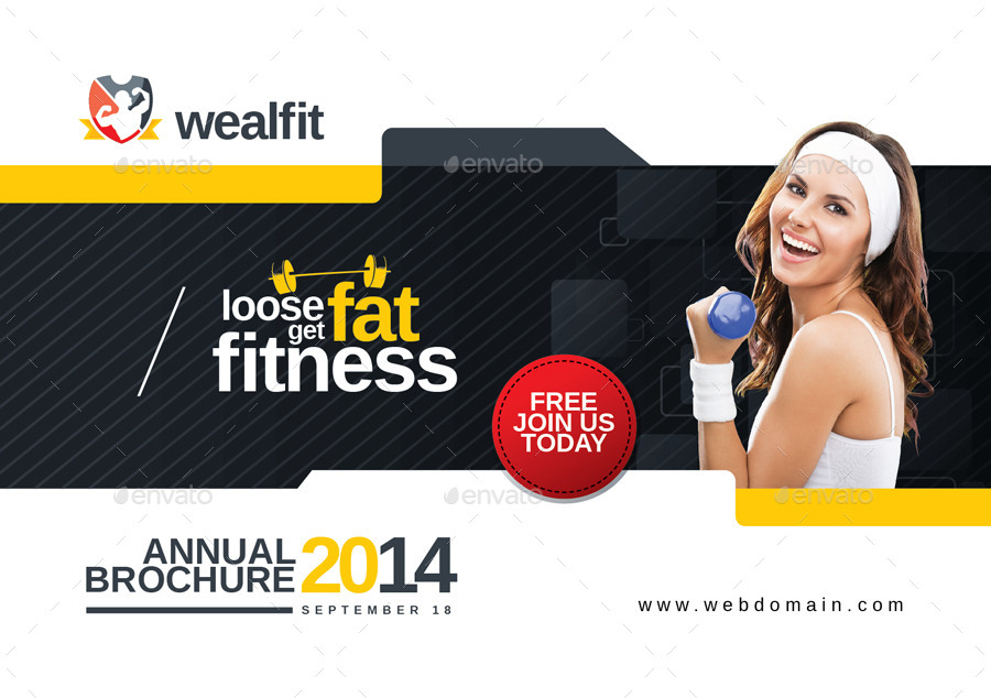 Gym Brochure. Sport Gym Brochure Template Outer Page Sport Gym