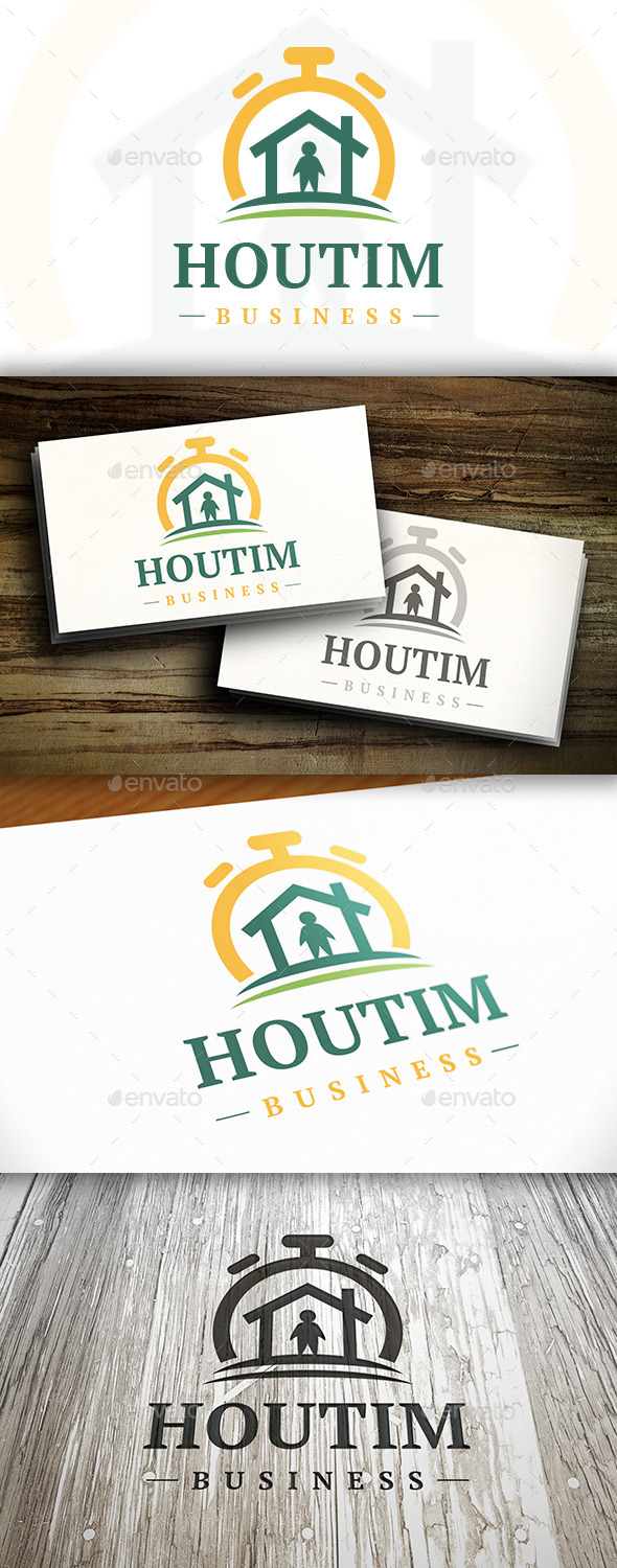 House Time Logo - Buildings Logo Templates