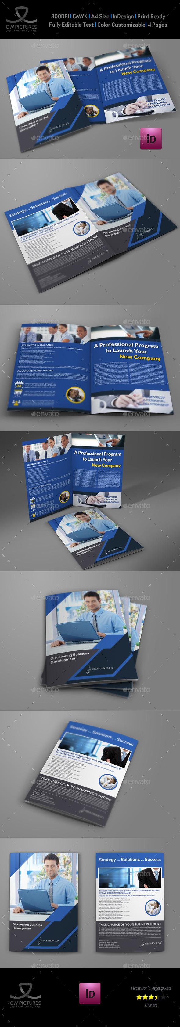 Company Brochure Bi-Fold Template Vol.39 - Brochures Print Templates