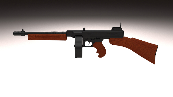 Thompson 1928 Submachine gun - 3DOcean Item for Sale