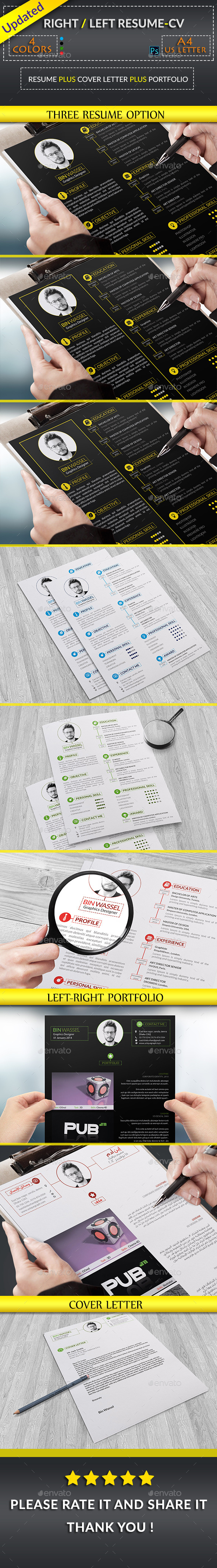 Right Left CV Resume - Resumes Stationery