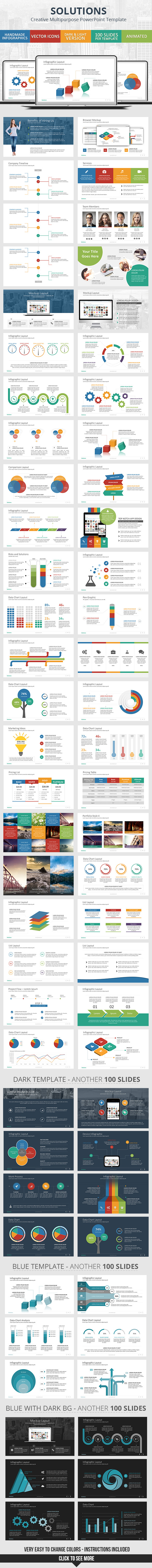 solutions - powerpoint presentation templategraphicadi, Powerpoint templates