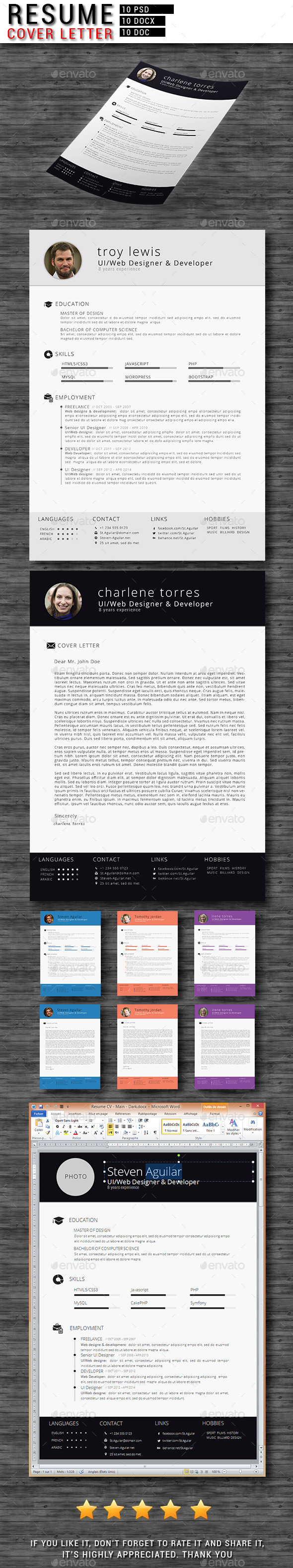 CV/Resume + Cover Letter - Resumes Stationery