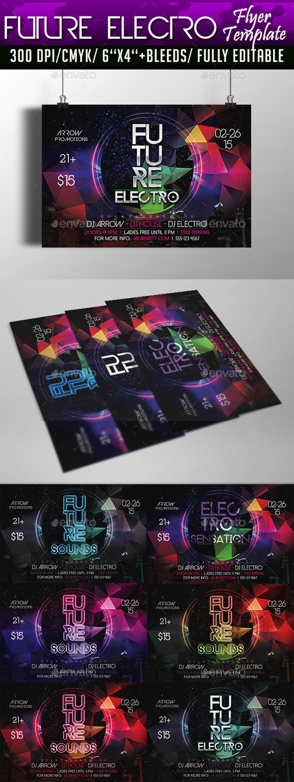 Future Electro Flyer Template - Clubs & Parties Events