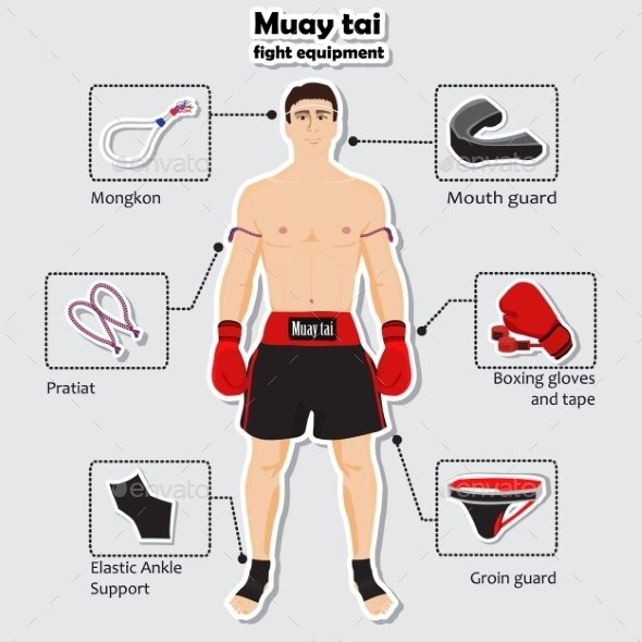 Sport Equipment for Muay Tai Martial Arts - Sports/Activity Conceptual
