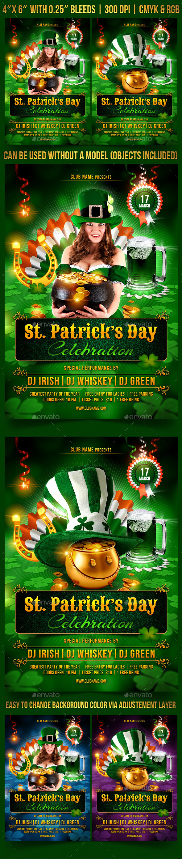 St. Patrick's Day Celebration - Clubs & Parties Events