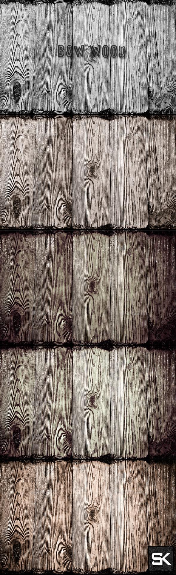 B&W Wood 2 - Wood Textures