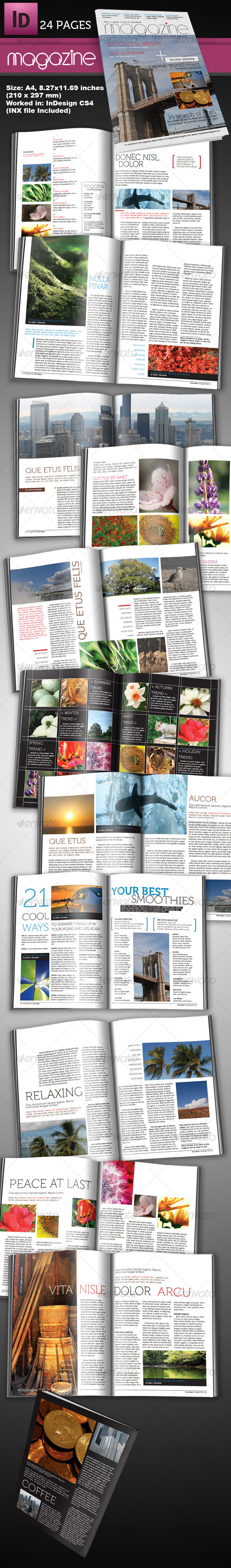 24 Page InDesign Magazine A4 by pro_design | GraphicRiver