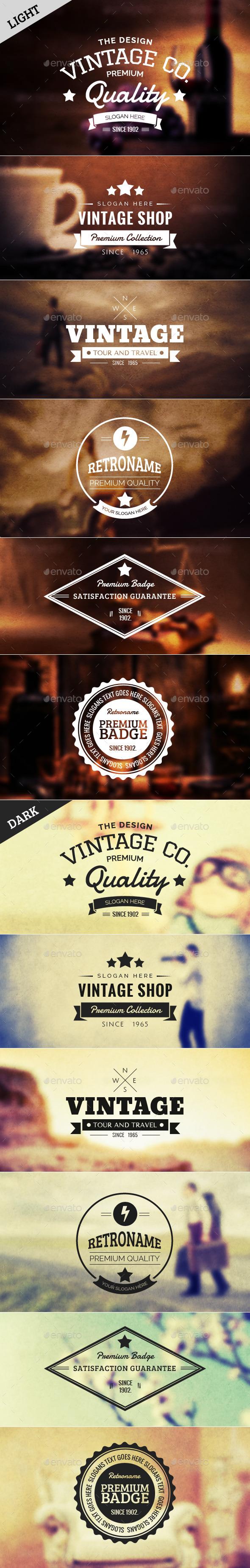 Retro Badge Vol 3 - Badges & Stickers Web Elements