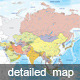Detailed Map of Asia - GraphicRiver Item for Sale