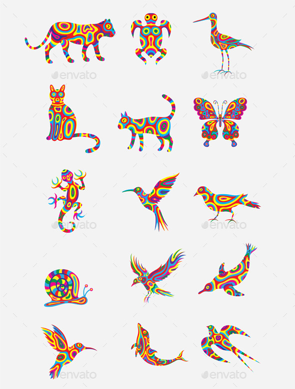 Colorful Animal Set - Miscellaneous Characters